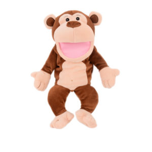 Monkey moving mouth hand puppet