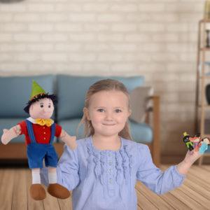 Pinocchio Hand Puppet Set