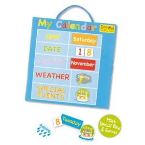 Fiesta Crafts Magnetic Calendar Blue