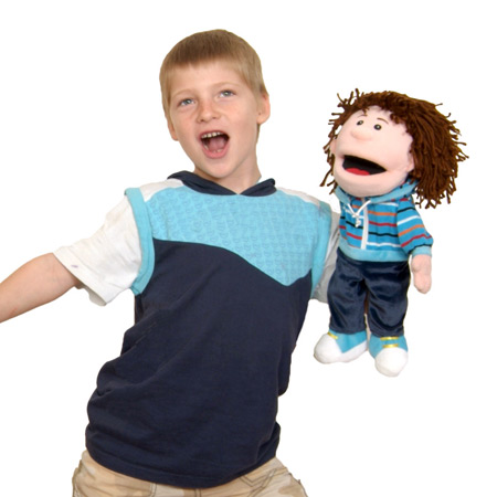 Boy Moving Mouth Hand Puppet