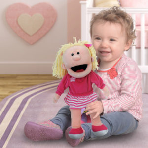 Girl Moving Mouth Hand Puppet
