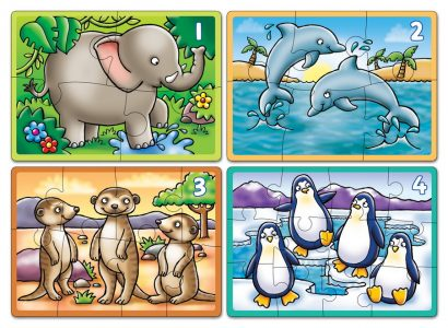 Animals Four In A Box Puzzle