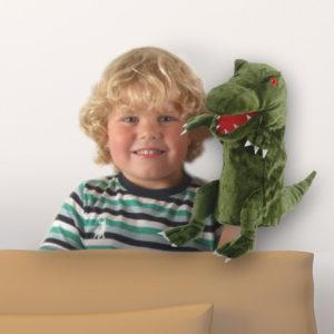 Green Dinosaur Hand Puppet