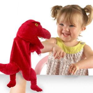 Red Dinosaur Hand Puppet