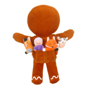 Gingerbread Man Hand Puppet Set