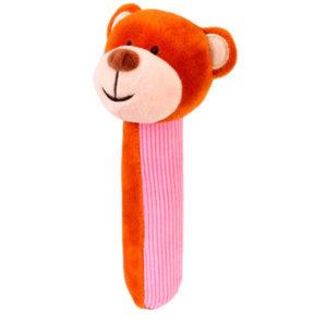 Bear Squeakaboo Pink