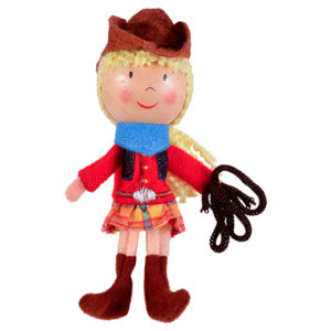 Cowgirl Finger Puppet