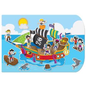 Pirate Ship Stickabouts