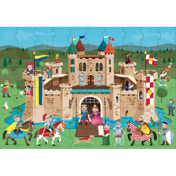the knights castle puzzle layout